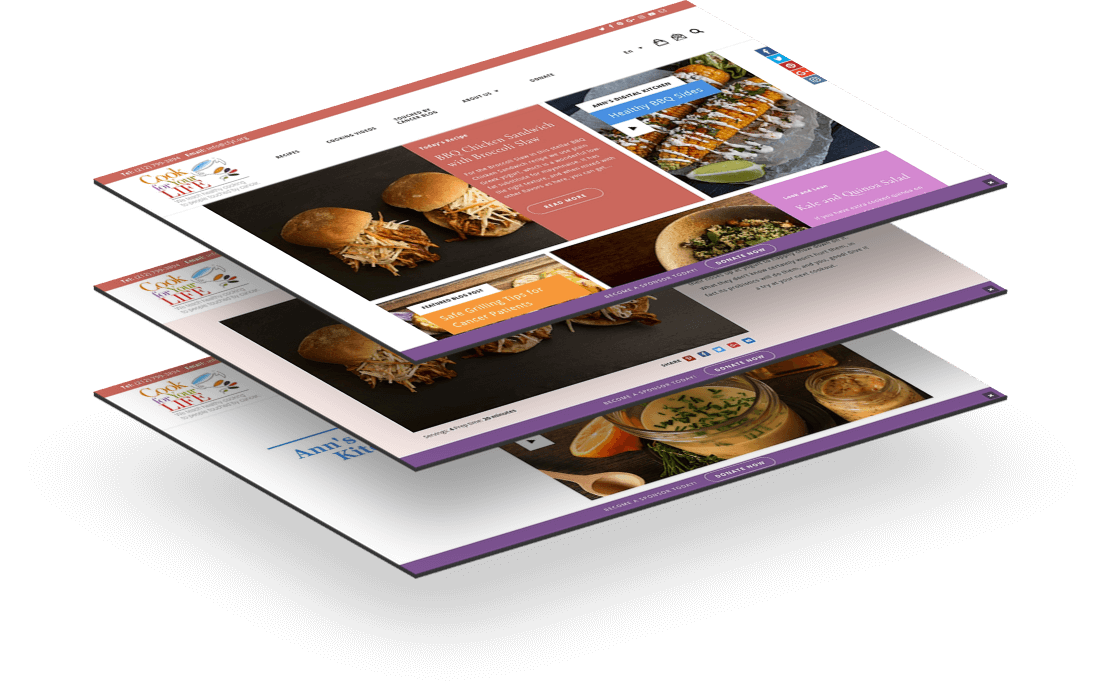 Cook for Your Life Website Mockup Gramercy