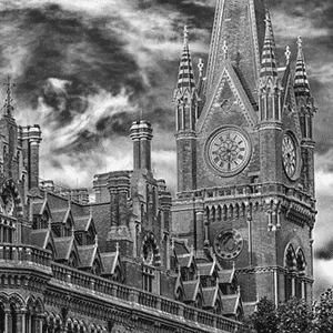 Gramercy London Black and White Photo