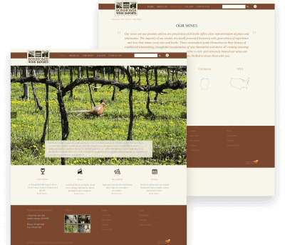 Bonhomie Wine Client Website Mockup