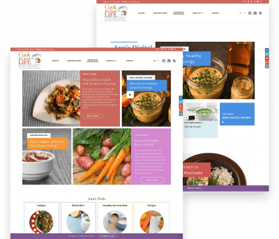 Website for Cook For Your Life porfolio