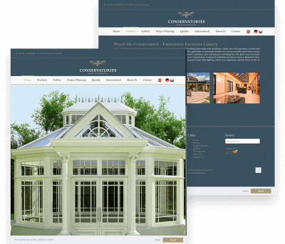 Website for Conservatories porfolio