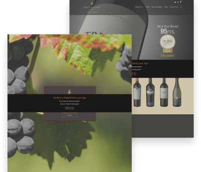 Website for Don Cristobal Winery porfolio