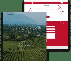 Website for Franciacorta Festival porfolio