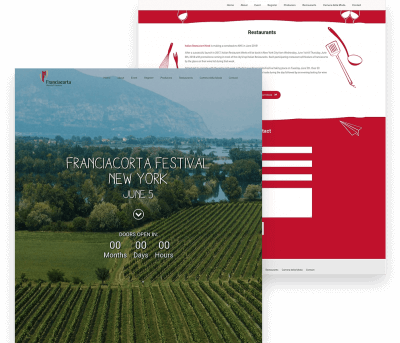 Website for Franciacorta Festival porfolio