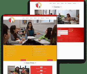Website for German School NYC porfolio