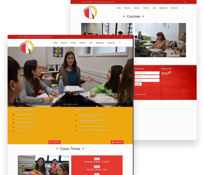 Website for German School NYC porfolio
