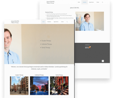 James Ellis Client Website Mockup