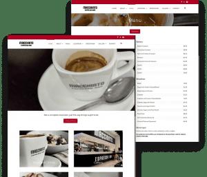 Website for Macchiato Cafe porfolio