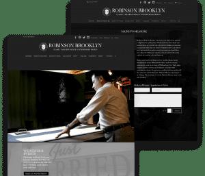 Website for Robinson Brooklyn porfolio