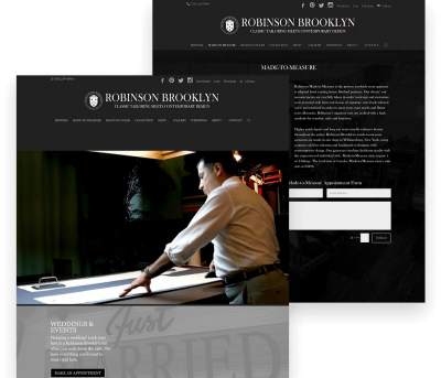 Website for Robinson Brooklyn porfolio