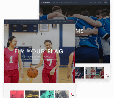 Website for The League Brand porfolio