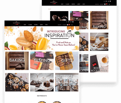 Website for Valrhona porfolio