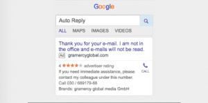 Auto Reply Google